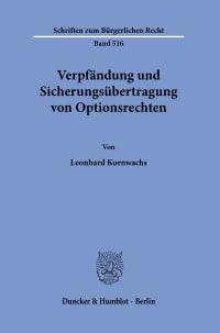 Cover Verpfändung und Sicherungsübertragung von Optionsrechten