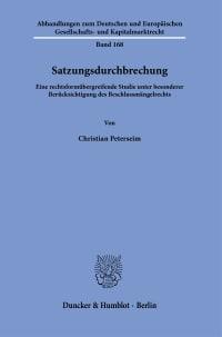 Cover Satzungsdurchbrechung