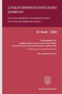 Cover Literaturwissenschaftliches Jahrbuch. Neue Folge (LJB)