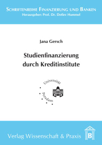 Cover Studienfinanzierung durch Kreditinstitute