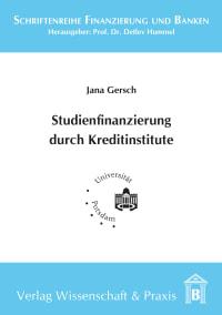 Cover Studienfinanzierung durch Kreditinstitute