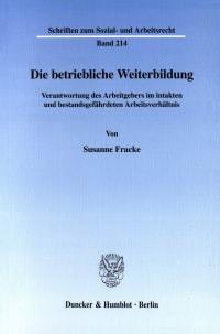 Cover Die betriebliche Weiterbildung