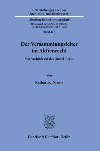 Cover Der Versammlungsleiter im Aktienrecht