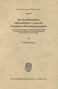 Cover Das Abschlußverfahren völkerrechtlicher Verträge der Europäischen Wirtschaftsgemeinschaft