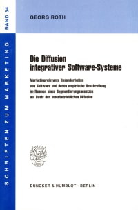 Cover Die Diffusion integrativer Software-Systeme