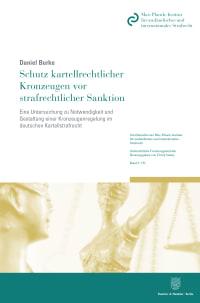 Cover Schutz kartellrechtlicher Kronzeugen vor strafrechtlicher Sanktion