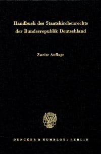 Cover Handbuch des Staatskirchenrechts der Bundesrepublik Deutschland. 2 Bände
