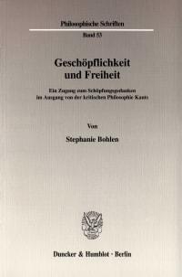 Cover Geschöpflichkeit und Freiheit