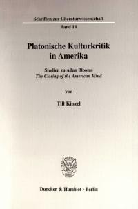 Cover Platonische Kulturkritik in Amerika