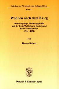 Cover Wohnen nach dem Krieg