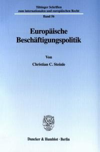 Cover Europäische Beschäftigungspolitik