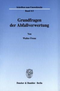 Cover Grundfragen der Abfallverwertung