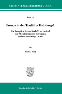 Cover Europa in der Tradition Habsburgs?