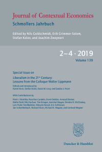 Cover Journal of Contextual Economics – Schmollers Jahrbuch (JCE)