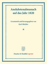Cover Anekdotenalmanach auf das Jahr 1820