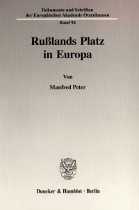 Cover Rußlands Platz in Europa