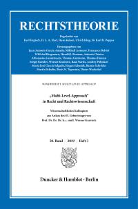 Cover »Multi-Level-Approach« in Recht und Rechtswissenschaft<br/>
