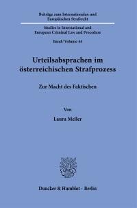 Cover Urteilsabsprachen im österreichischen Strafprozess