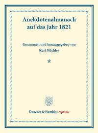 Cover Anekdotenalmanach auf das Jahr 1821