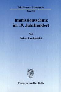Cover Immissionsschutz im 19. Jahrhundert