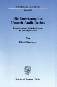 Cover Die Umsetzung des Umwelt-Audit-Rechts