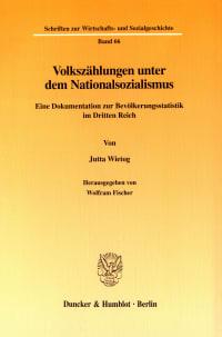 Cover Volkszählungen unter dem Nationalsozialismus