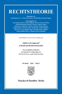 Cover »Multi-Level-Approach« in Recht und Rechtswissenschaft