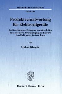 Cover Produktverantwortung für Elektroaltgeräte