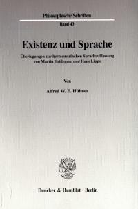 Cover Existenz und Sprache