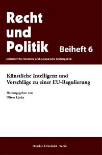 Cover Künstliche Intelligenz und Vorschläge zu einer EU-Regulierung