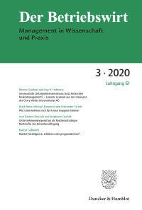 Cover Der Betriebswirt (DBW)