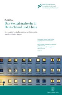 Cover Das Sexualstrafrecht in Deutschland und China