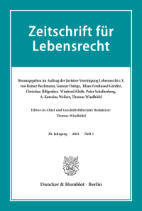 Cover Zeitschrift für Lebensrecht (ZfL)