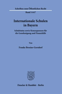 Cover Internationale Schulen in Bayern