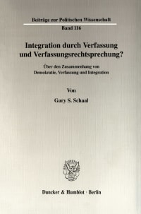 Cover Integration durch Verfassung und Verfassungsrechtsprechung?