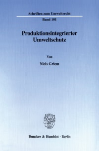 Cover Produktionsintegrierter Umweltschutz