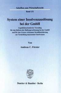 Cover System einer Insolvenzauslösung bei der GmbH