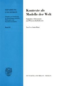 Cover Kontexte als Modelle der Welt