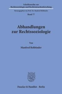 Cover Abhandlungen zur Rechtssoziologie