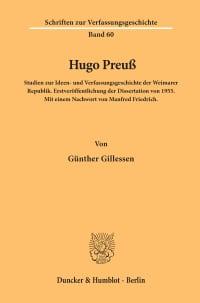 Cover Hugo Preuß