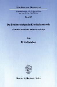 Cover Das Betriebsvermögen im Erbschaftsteuerrecht