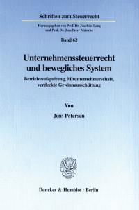 Cover Unternehmenssteuerrecht und bewegliches System