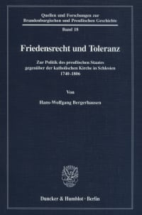 Cover Friedensrecht und Toleranz