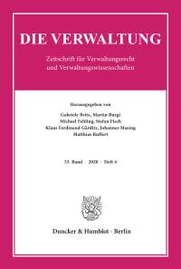 Cover Die Verwaltung (VERW)