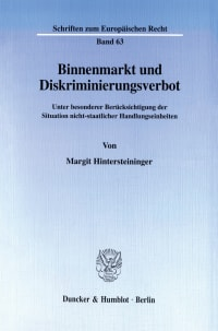Cover Binnenmarkt und Diskriminierungsverbot