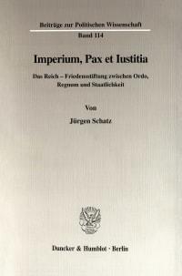 Cover Imperium, Pax et Iustitia