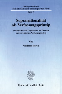 Cover Supranationalität als Verfassungsprinzip
