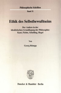 Cover Ethik des Selbstbewußtseins