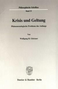 Cover Krisis und Geltung