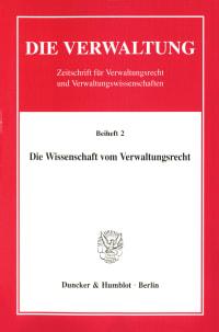 Cover Die Wissenschaft vom Verwaltungsrecht